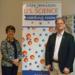 Nancy Gwinn and Martin Kalfatovic at Mae Jemison Reading Room