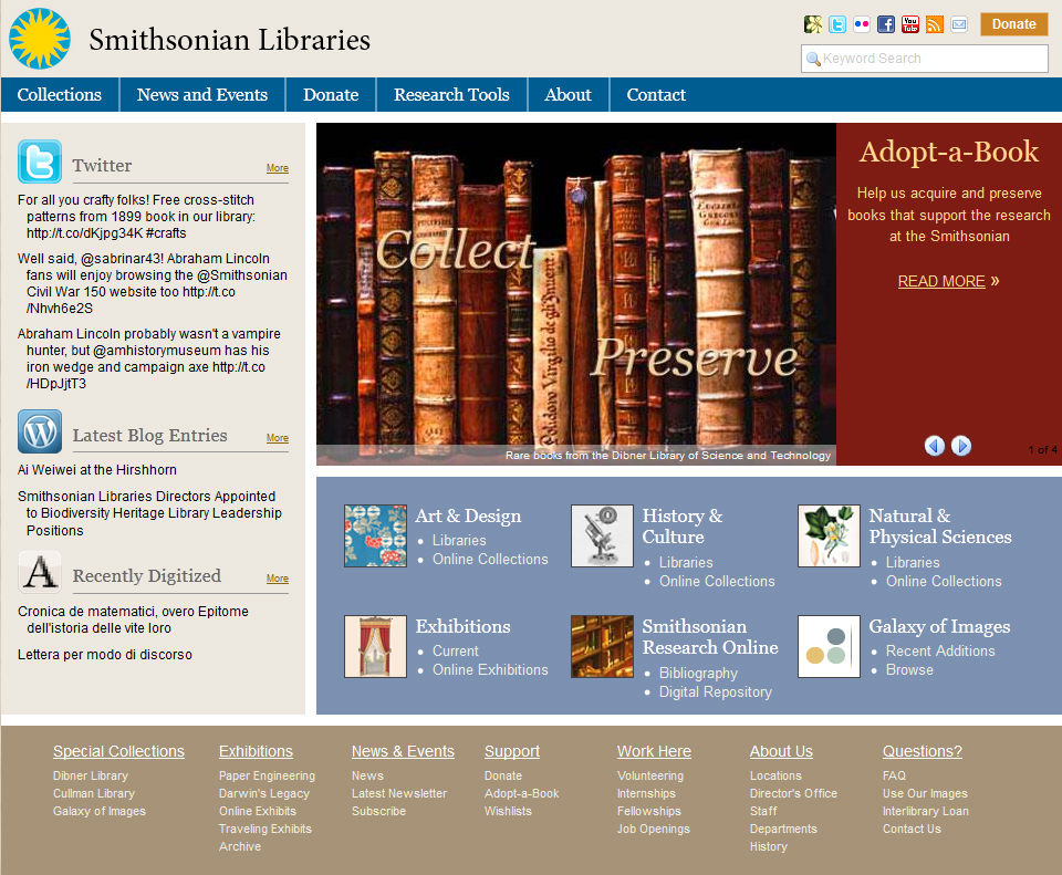We have a new website! - Smithsonian Libraries Unbound Smithsonian ...