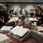 Guests were invited on a rare books tour in the Joseph F. Cullman 3rd Library of Natural History prior to the dinner.