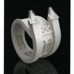"""Cathedral Bangle by Joshua Demonte. 2009. Glass-filled Polyamide, 4 x 5 x 6"""". in 40 under 40: Craft Futures by Nicholas R. Bell"""