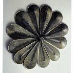 "Whorls and Eddies Bracelet (closed) by Sergey Jivetin. 2007. Jeweler's saw blades, steel, 6 x 12"".  in 40 under 40: Craft Futures by Nicholas R. Bell"