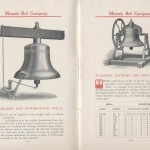 Meneely Bell Co. trade catalog showing fire-alarm, tower-clock, academy, factory, and depot bells