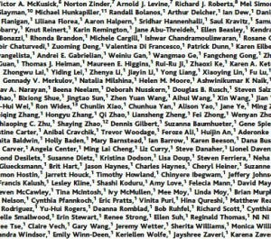 Long list of co-authors