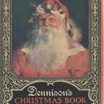 Santa on front cover of 1923 Dennison's Christmas Book