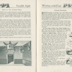 Twelfth Night decorations and directions for working with crepe paper from the 1923 Dennison's Christmas Book by Dennison Mfg. Co.