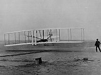 Photo of the Wright Brothers first flight
