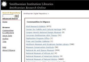 Screenshot of the Digital Repository