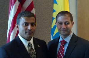 Dave and his mentor Salim Mawani