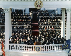 Photo of JFK's inauguration