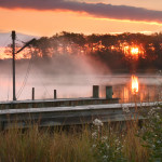 An autumn sunrise at the Smithsonian Environmental Resource Center