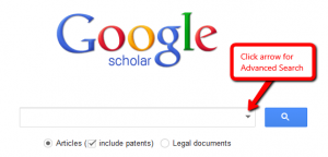 Google Scholar's Advanced Search