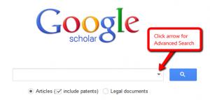 Google Scholar's Advanced Search