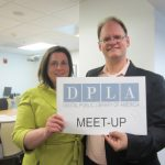 Rachel Frisk and Martin Kalfatovic at DPLA launch event.