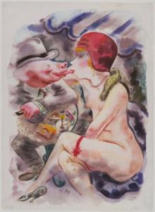 """Circe,"" George Grosz, 1927. Museum of Modern Art."