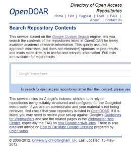 OpenDOAR's search