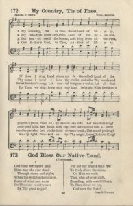 My Country, 'Tis of Thee and alternate lyrics from Uncle Sam's School Songs