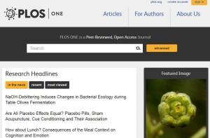 """Open access science journal """"PLOS ONE"""""""