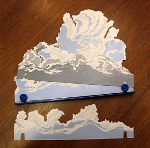 Cloud pages with metal base