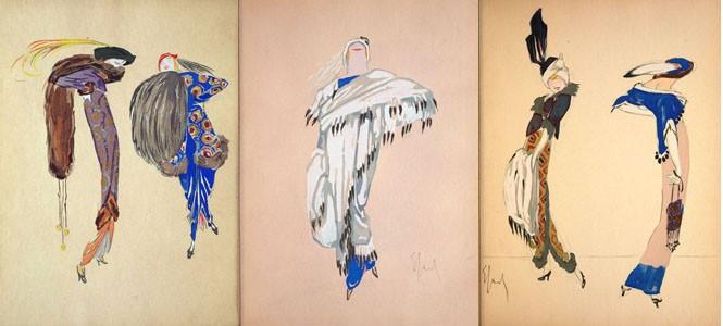 Highly stylized illustrations by Enrico Sacchetti