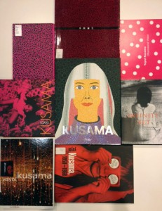 A Variety of Yayoi Kusama Books at the Hirshhorn Library