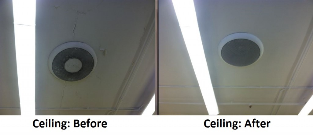 Ceiling Before and After