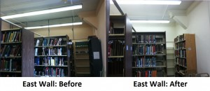 East Wall Before and After