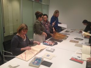 Corcoran Class looking at Artists' Books