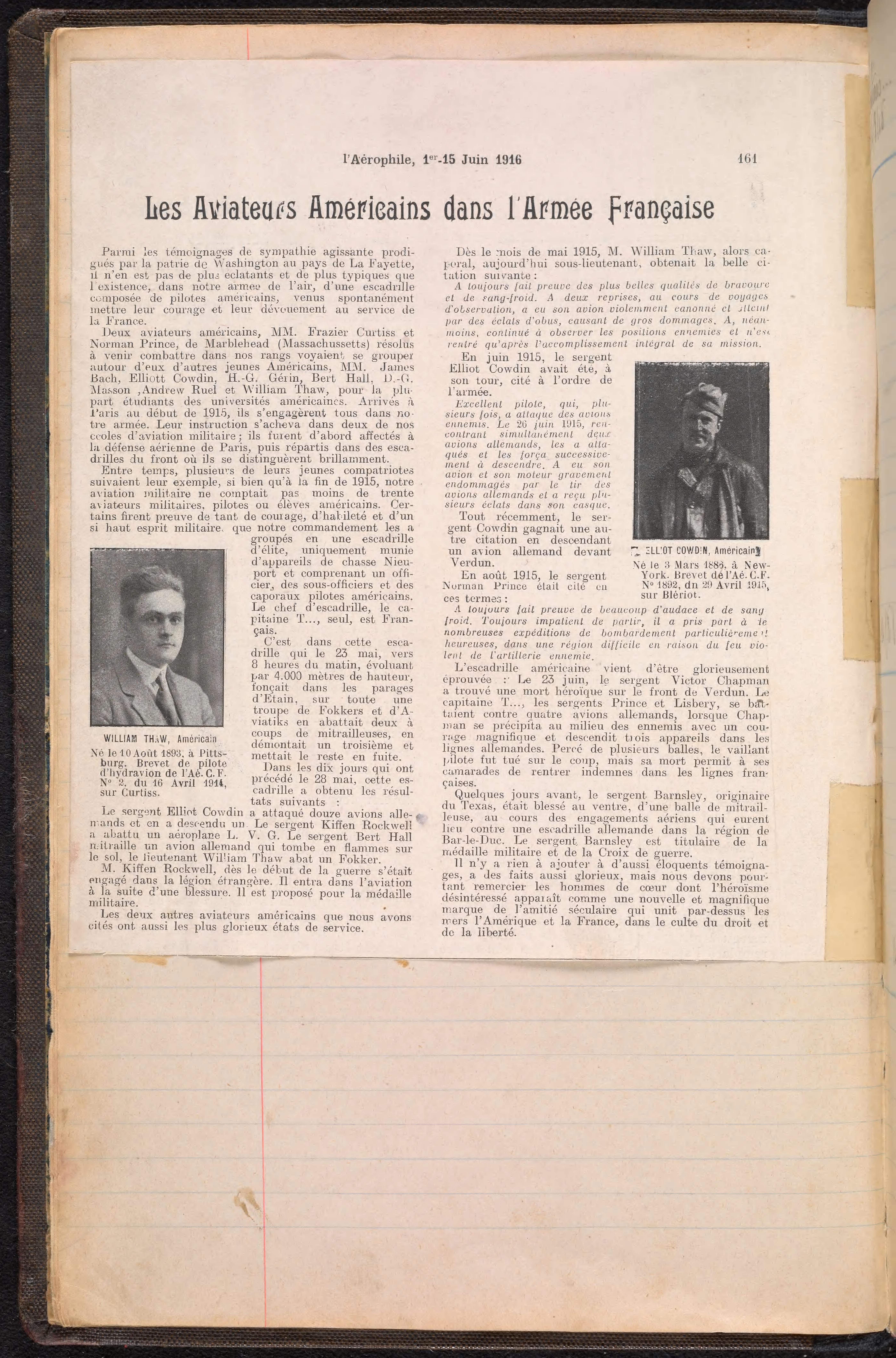 Journal des Marches 1916-1917
