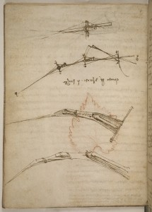 A page from DaVinci's Codex on Flight