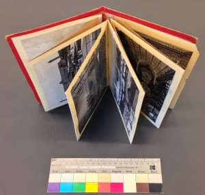 The souvenir booklet following treatment, with all folds repaired