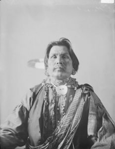 Portrait of Potawatomi Man in Native Dress 1898