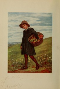 """Off to the Village"" by Kate Greenaway."