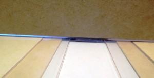 view of plexiglass track