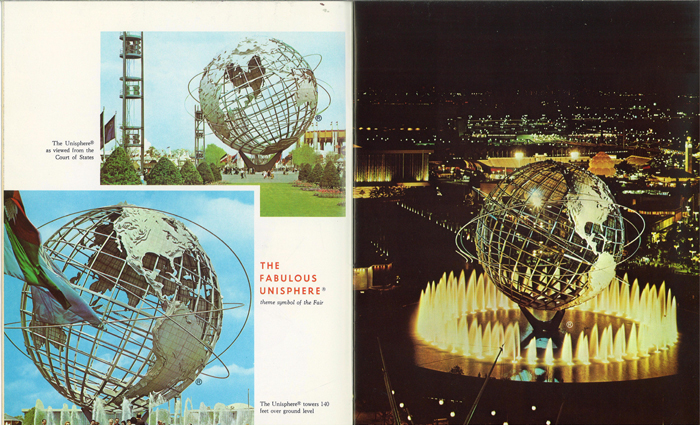 World's Fair steel replica of the planet earth