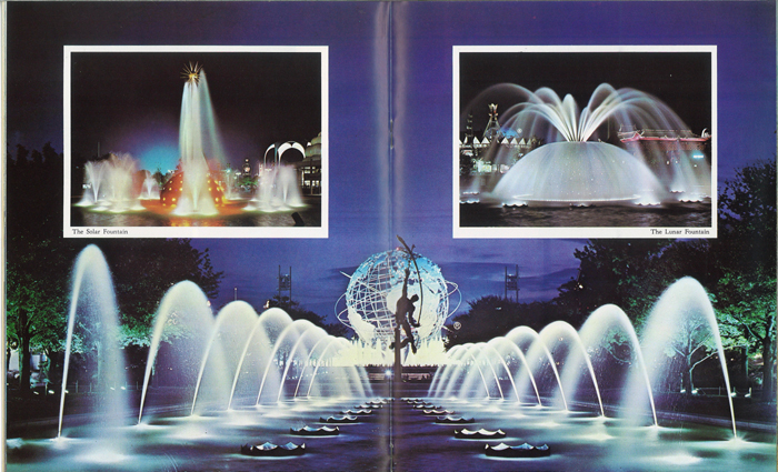 Fountains at the 1964-65 New York World's Fair.