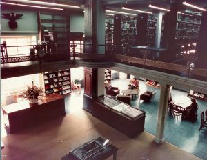 Smithsonian NCFA/NPG Library c. 1975. Photo by Wolfgang Freitag