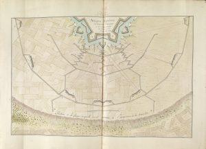 Vauban star-shaped fortification design  from Traitté des sieges