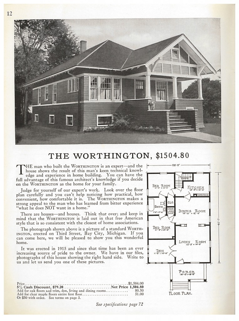 one story Sterling Cut-To-Fit home called the Worthington