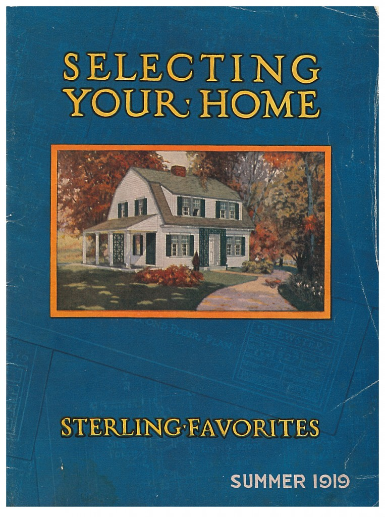 two story Sterling Cut-To-Fit Home from International Mill & Timber Co. trade catalog