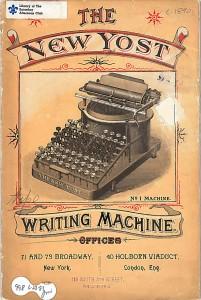 Yost Typewriter trade literature.