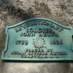 Adlum's Revolutionary War grave marker in Oak Hill Cemetery, Georgetown, Washington, D.C.