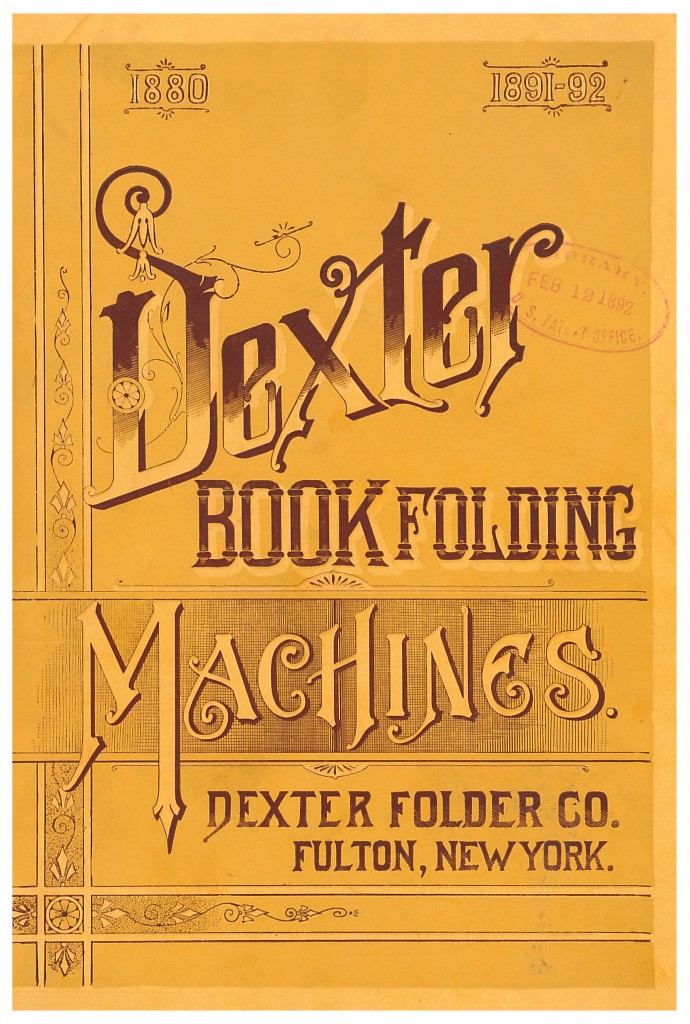 front cover of Dexter Book Folding Machines trade catalog