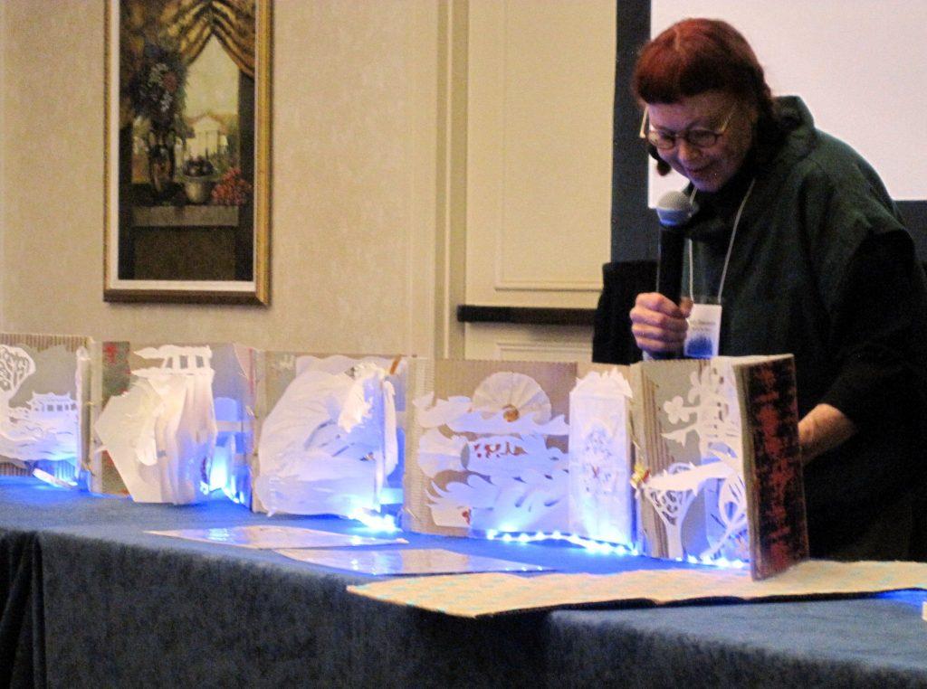 SallyBlakemore'saccordion book with LED