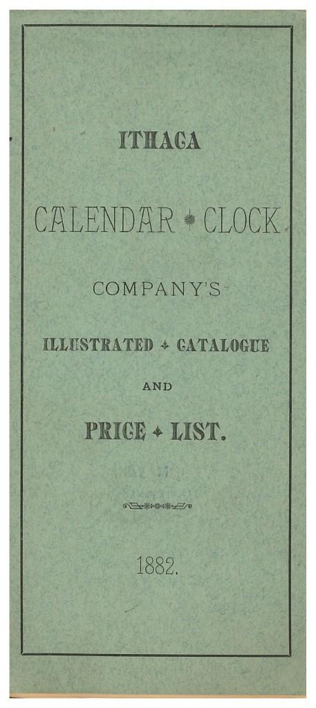 front cover of Ithaca Calendar Clock Co. 1882 catalog