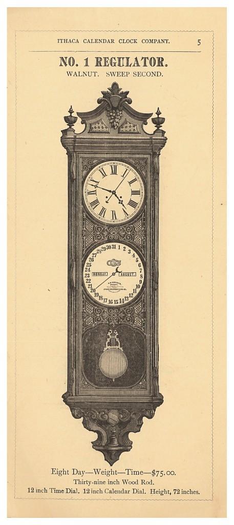 Ithaca Calendar Clock No. 1 Regulator Clock