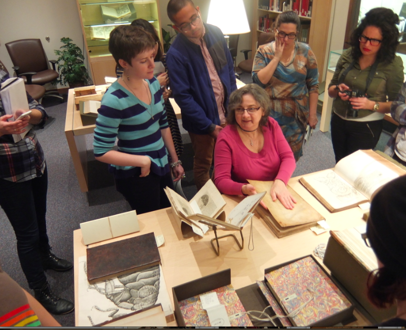 Lilla Vekerdy gives a tour of the Dibner's collections.