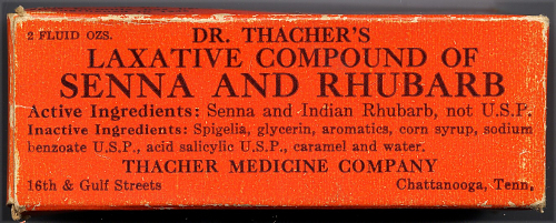 Label on bottle from Thacher Medicine Company (ca. 1937, MG*M-10426.06, National Museum of American History)