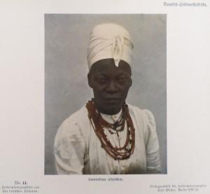 German Southwest Africa: A Christian Herero woman.