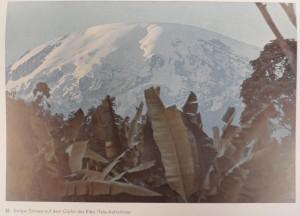 Perpetual snow on the peak of Kibo. [Kibo is one of three volcanic peaks of Mt. Kilimanjaro in Tanzania].