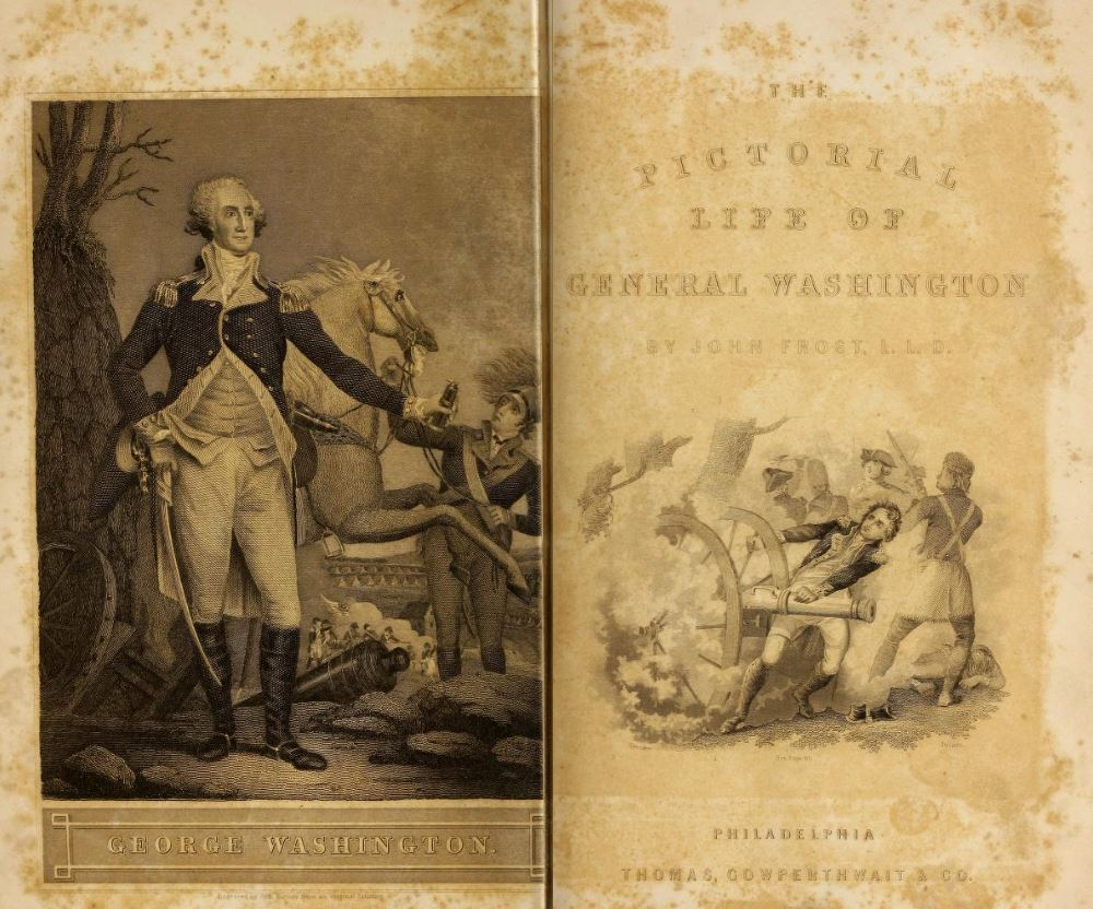 Frontispiece and title page from Pictorial life of George Washington